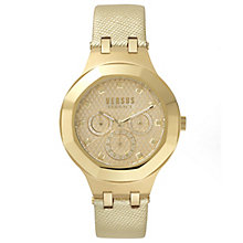 Versus Versace Ladies' Champagne Leather Strap Watch - Product number 8391599