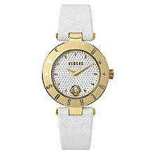 Versus Versace Ladies' White Leather Strap Watch - Product number 8391793