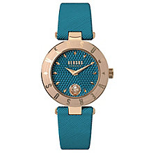 Versus Versace Ladies' Teal Leather Strap Watch - Product number 8391807