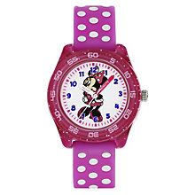 Disney Minnie Mouse Children's Rubber Strap Watch - Product number 8391874