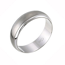Palladium 950 Matt & Polished Wedding Ring - Product number 8392994