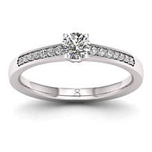 The Diamond Story Platinum 0.25ct Diamond Ring - Product number 8396167