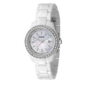 Fossil Stella Ladies' White Bracelet Stone Set Watch - Product number 8399719