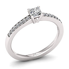 The Diamond Story Platinum 0.33ct Princess Cut Ring - Product number 8399956