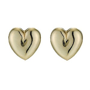 9ct Gold Heart Andralok Stud Earrings