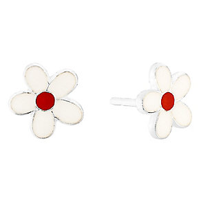 Sterling Silver Kids Flower Stud Earrings - Product number 8400105