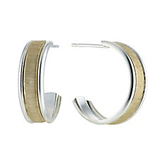 Silver and 9ct Gold Wedding Earrings - Product number 8400156