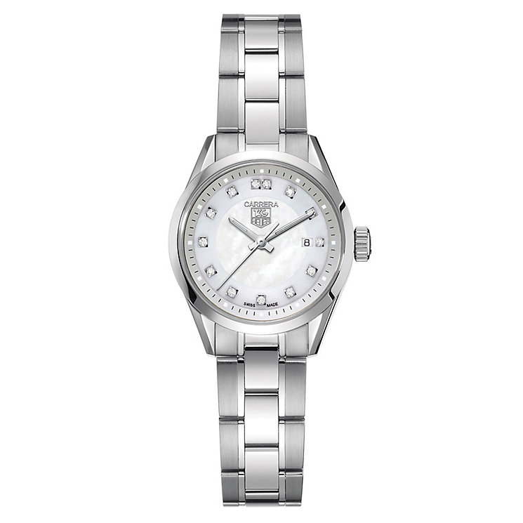 TAG Heuer Carrera stainless steel diamond bracelet watch - Product number 8402736