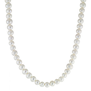 Sterling Silver Freshwater Cultured Pearl Necklace - Product number 8406901