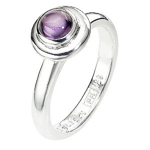 Truth Clique Sterling Silver Amethyst Ring - Size N