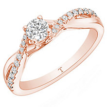 Tolkowsky 18ct Rose Gold 0.33ct Diamond Ring - Product number 8411549