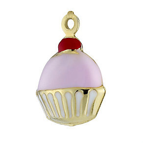 9ct Gold and Enamel Cupcake Charm - Product number 8411662