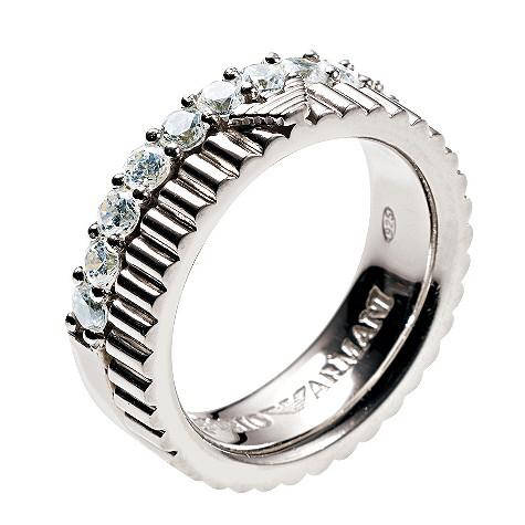 Emporio Armani stone set sterling silver ring