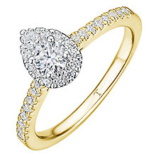 Tolkowsky 18ct Yellow Gold 0.50ct Diamond Pear Halo Ring - Product number 8412863