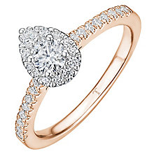 Tolkowsky 18ct Rose Gold 0.50ct Diamond Pear Halo Ring - Product number 8413002