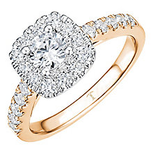 Tolkowsky 18ct Rose Gold 1ct Cushion Halo Diamond Ring - Product number 8414602