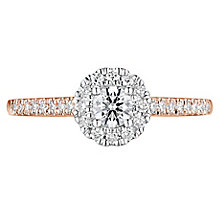 Tolkowsky 18ct Yellow Gold 0.38ct Diamond Halo Ring - Product number 8415005