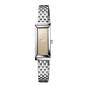 Gucci G-Frame ladies' brown rectangular dial bracelet watch - Product number 8415234