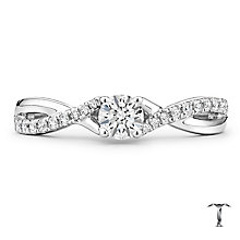 Tolkowsky Platinum 0.38ct Diamond Solitaire Ring - Product number 8415617