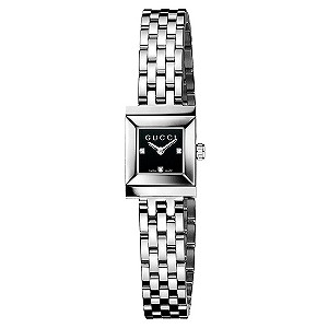 Gucci G-Frame ladies' black dial diamond set bracelet watch - Product number 8416052