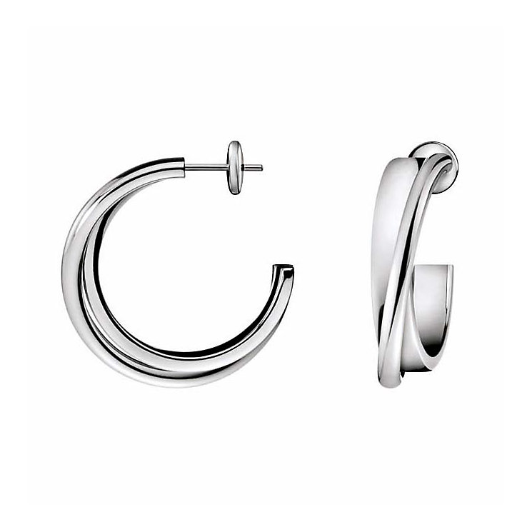 Calvin Klein Coil stainless steel double ring earrings - Product number 8417350