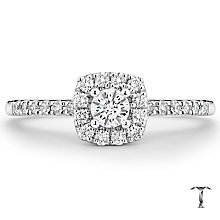 Tolkowsky Platinum 0.38ct Diamond Halo Ring - Product number 8417555