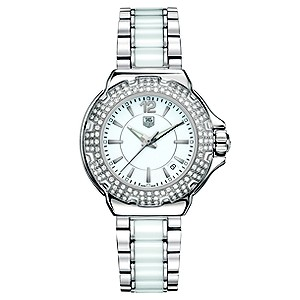 TAG Heuer Formula 1 white ceramic stainless steel watch