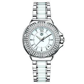 TAG Heuer Formula 1 white ceramic stainless steel watch - Product number 8417970