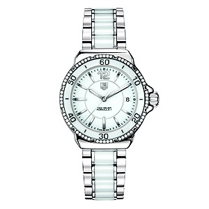 TAG Heuer Formula 1 white ceramic stainless steel watch - Product number 8418063