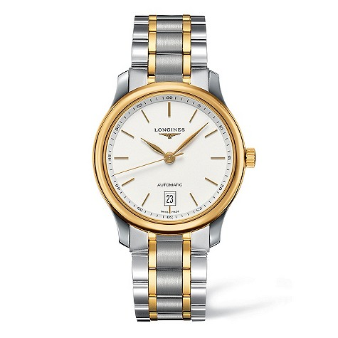 Longines Master Collection two colour bracelet watch