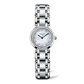 Longines PrimaLuna ladies' stainless steel bracelet watch - Product number 8418152