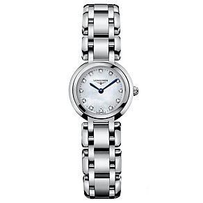 Longines PrimaLuna ladies' stainless steel bracelet watch - Product number 8418306