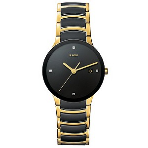 Rado Centrix men's steel and ceramic bracelet watch - L - Product number 8418705