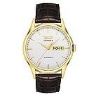 Tissot Heritage Visodate gold plated brown strap watch - Product number 8419272