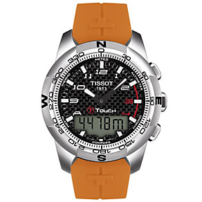 Tissot T-Touch men's orange strap watch - Product number 8419299