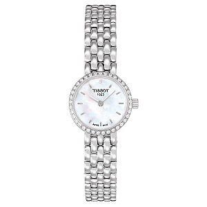 Tissot ladies' mother of pearl dial diamond bracelet watch - Product number 8419418