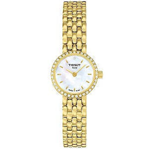 Tissot Lovely ladies' diamond set gold plated bracelet watch - Product number 8419426