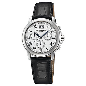 Raymond Weil men's chronograph leather strap watch - Product number 8420289