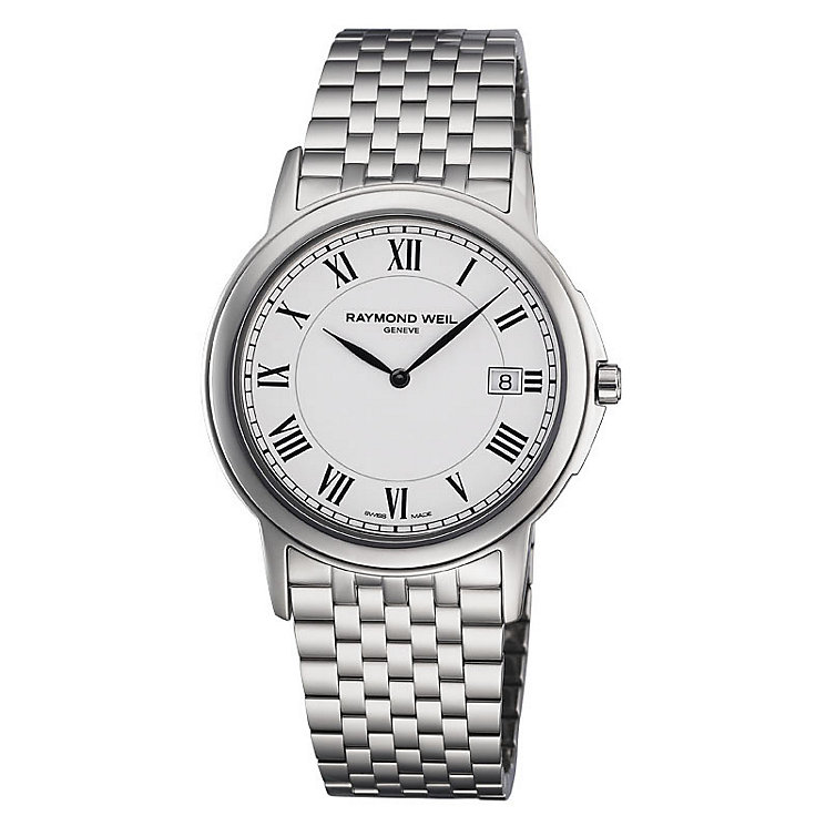 Raymond Weil men's white dial stainless steel bracelet watch - Product number 8420319