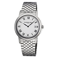 raymond weil watches ernest jones raymond weil men s white dial stainless steel bracelet watch product number 8420319