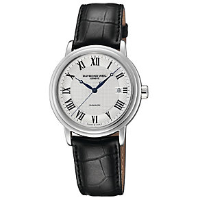 Raymond Weil silver dial black strap watch - Product number 8420483