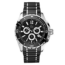 Gc men's stainless steel black ceramic bracelet watch - Product number 8420629