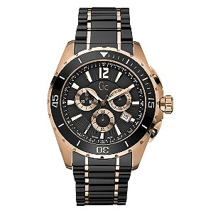 GC men's black and rose gold bracelet watch - Product number 8420831