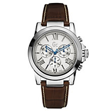Gc Men's Stainless Steel Brown Strap Watch - Product number 8420882