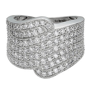 18ct white gold 1.5 carat diamond cocktail ring - Product number 8421129