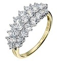 9ct Yellow Gold Cubic Zirconia Cluster Ring - Product number 8426953