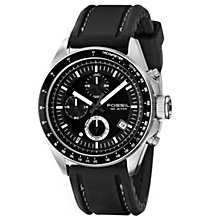 Fossil Decker Men's Black Rubber Strap Watch - Product number 8429839