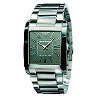 Emporio Armani men's square grey dial bracelet watch - Product number 8430470