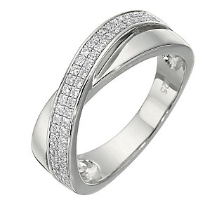 Sterling Silver Cubic Zirconia Ring - Size Medium - Product number 8430918