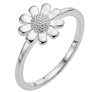 Sterling Silver Daisy Ring - Size N